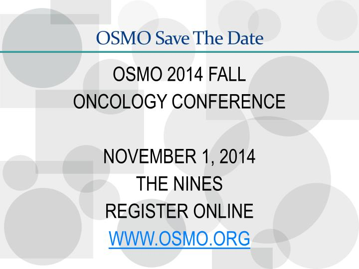 OSMO Save The Date