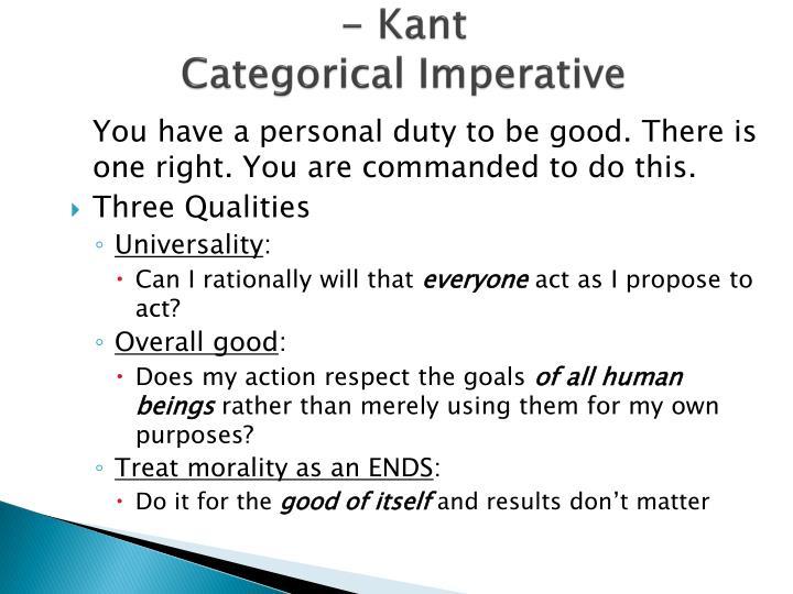 - Kant