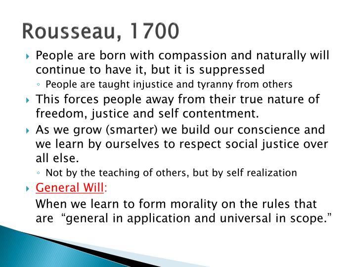 Rousseau, 1700