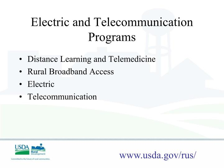 Electric and Telecommunication Programs
