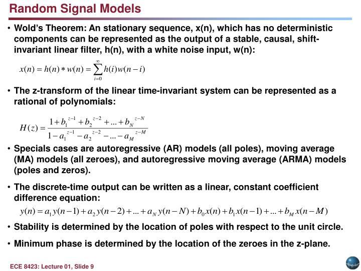 Random Signal Models