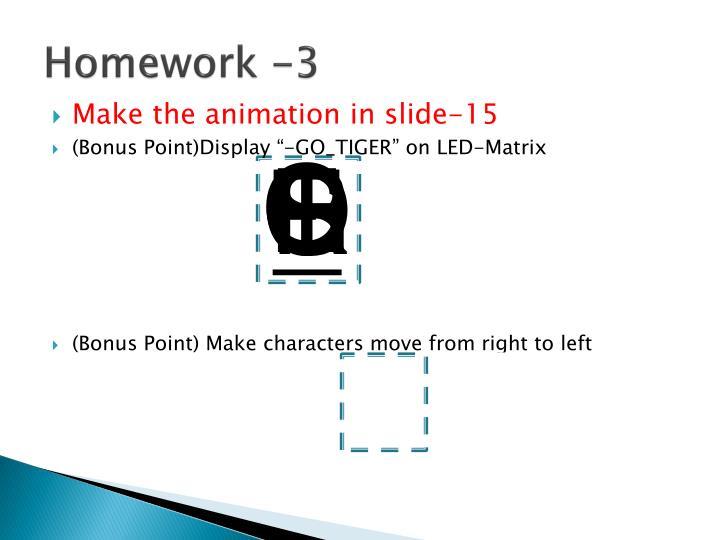Homework -3