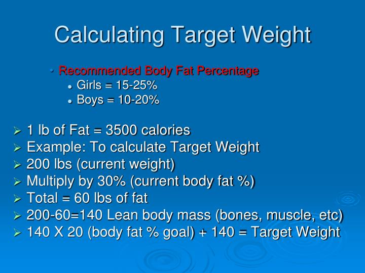 Calculating Target Weight