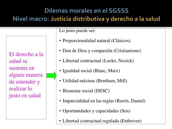 Dilemas morales en el SGSSS