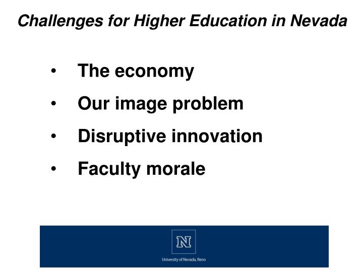 Challenges for Higher Education in Nevada