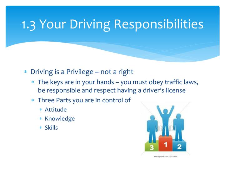 1.3 Your Driving Responsibilities