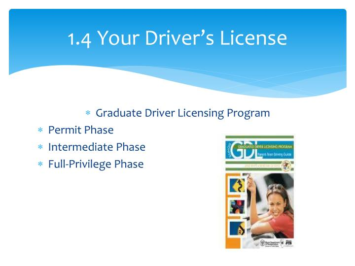 1.4 Your Driver's License