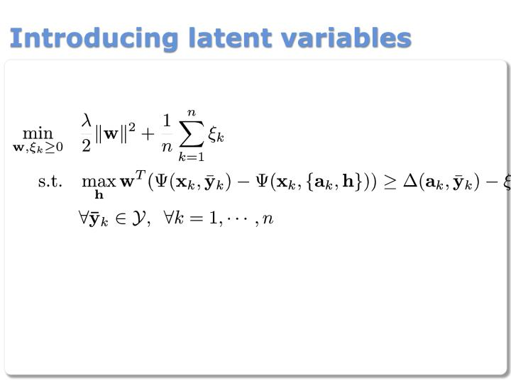 Introducing latent variables