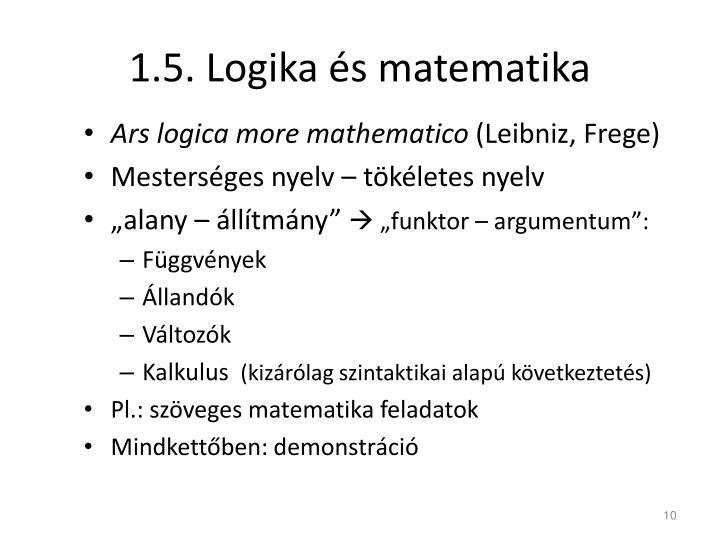 1.5. Logika és matematika