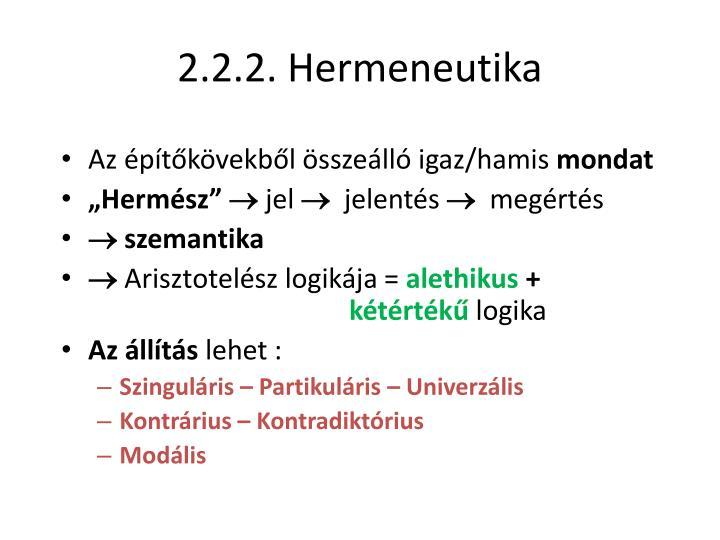 2.2.2. Hermeneutika