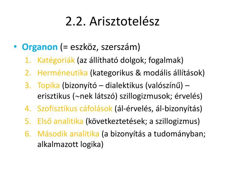 2.2. Arisztotelész
