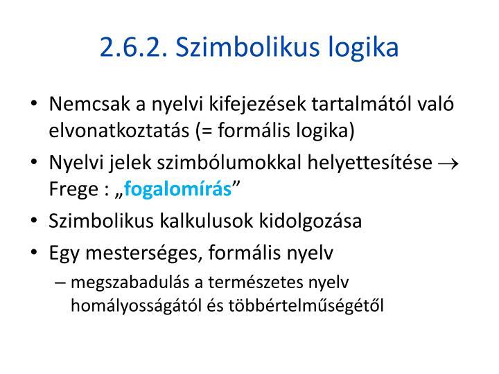 2.6.2. Szimbolikus logika