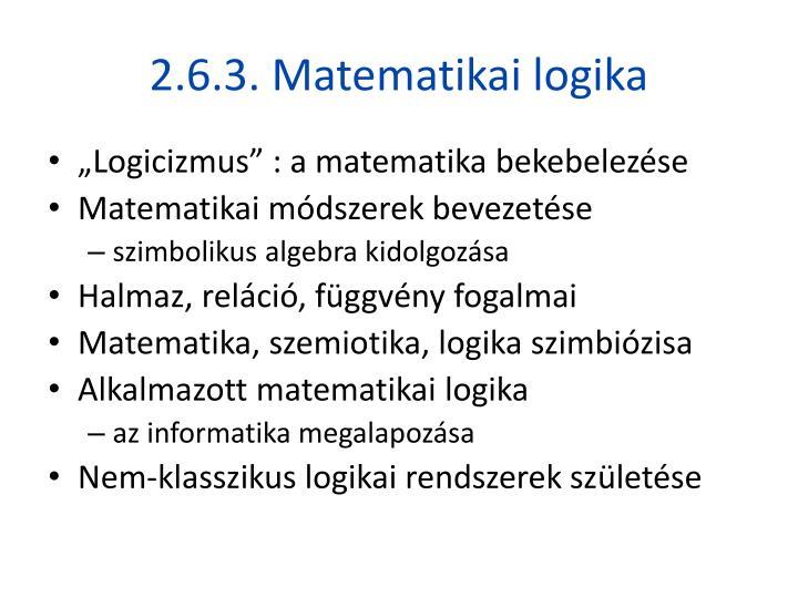2.6.3. Matematikai logika