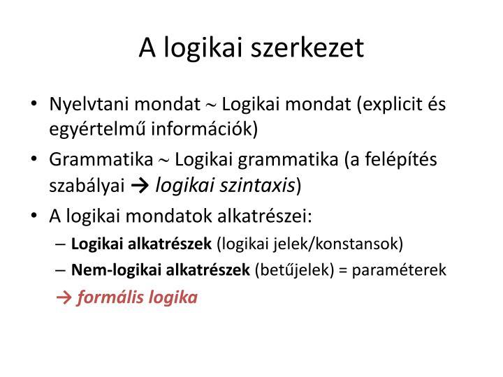 A logikai szerkezet