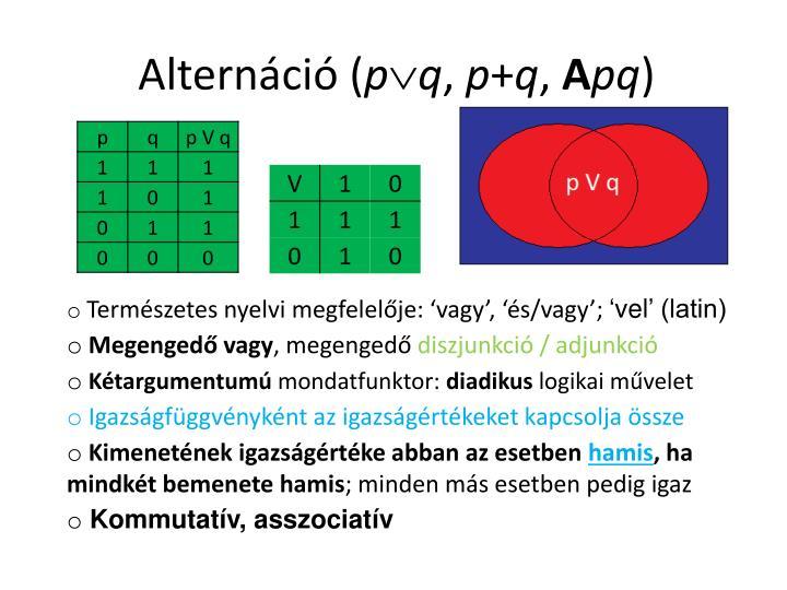 Alternáció (