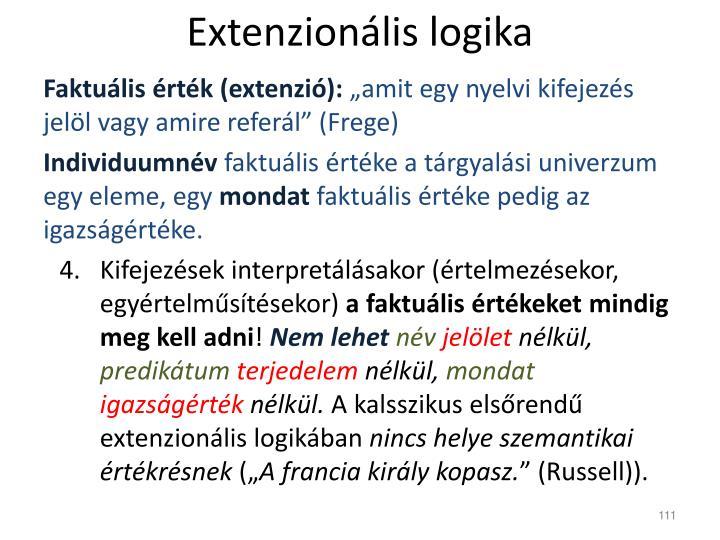 Extenzionális logika