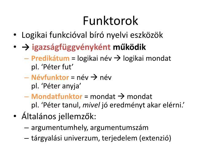 Funktorok