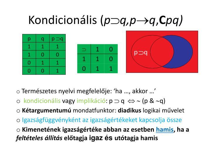 Kondicionális (