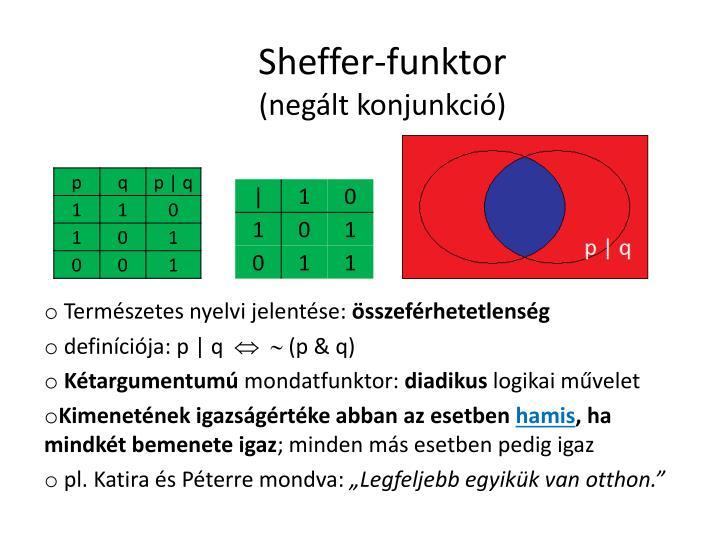 Sheffer-funktor