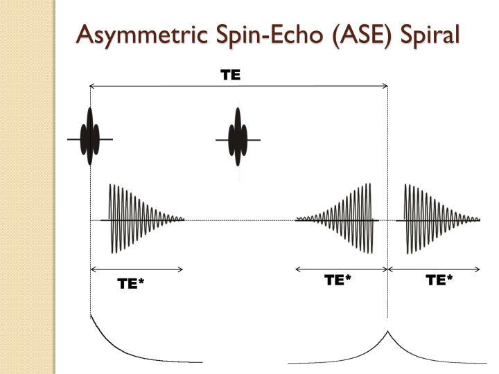 Asymmetric Spin-Echo (ASE) Spiral