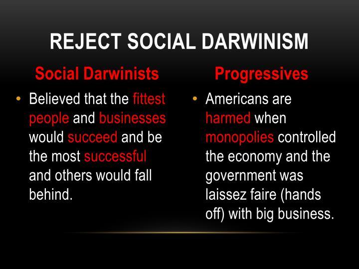 Reject Social Darwinism