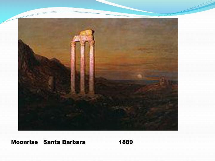 Moonrise   Santa Barbara1889