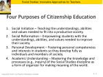 four purposes of citizenship education