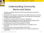 understanding community norms and values