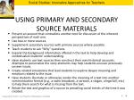 using primary and secondary source materials