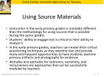 using source materials