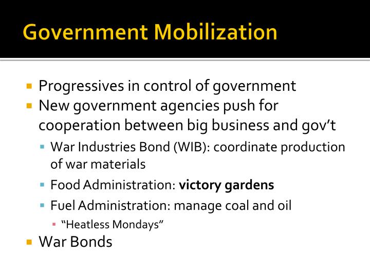 Government Mobilization