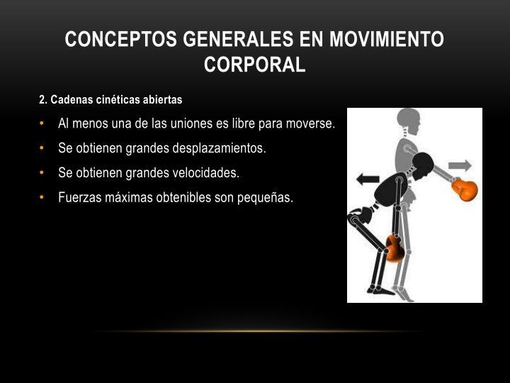 Conceptos generales en movimiento corporal