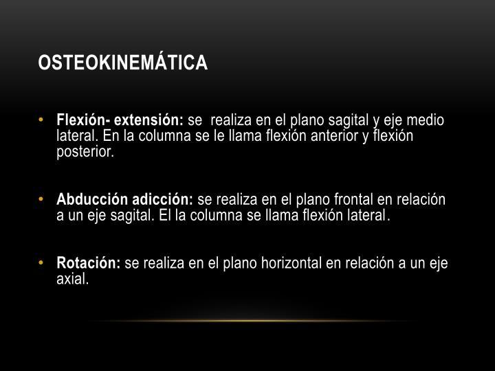 Osteokinemática