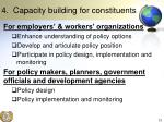4 capacity building for constituents