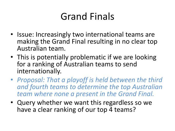 Grand Finals