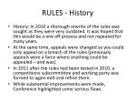 rules history