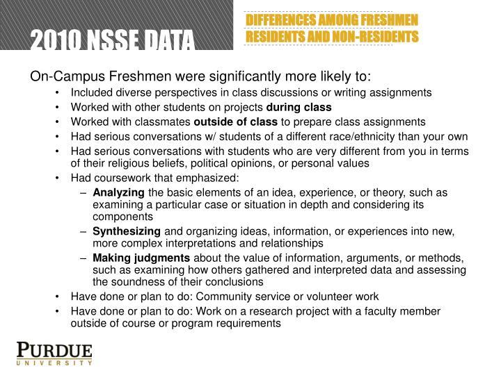 2010 NSSE Data