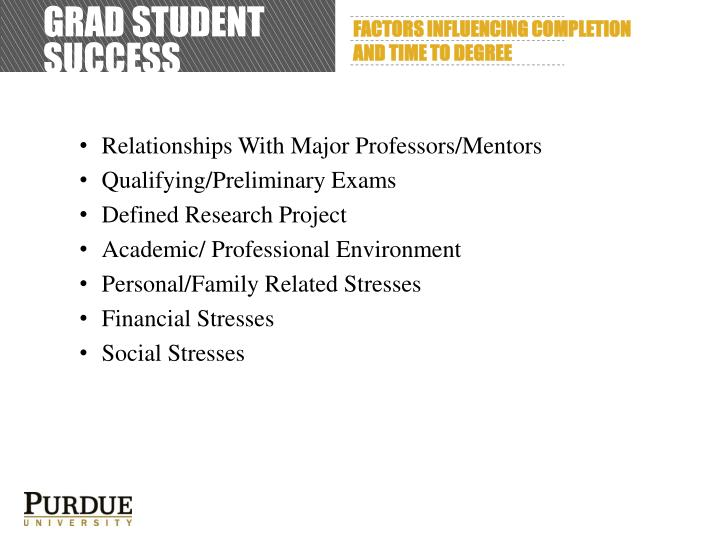 Grad student success