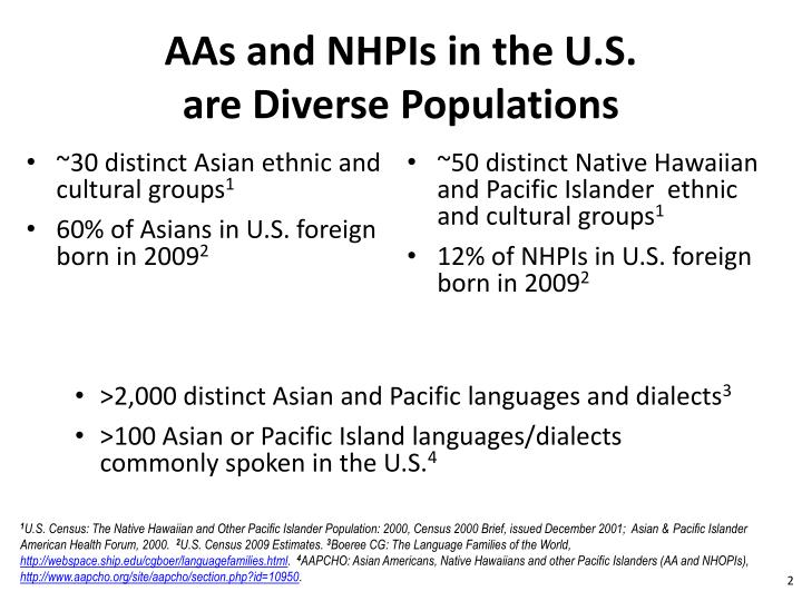 AAs and NHPIs in