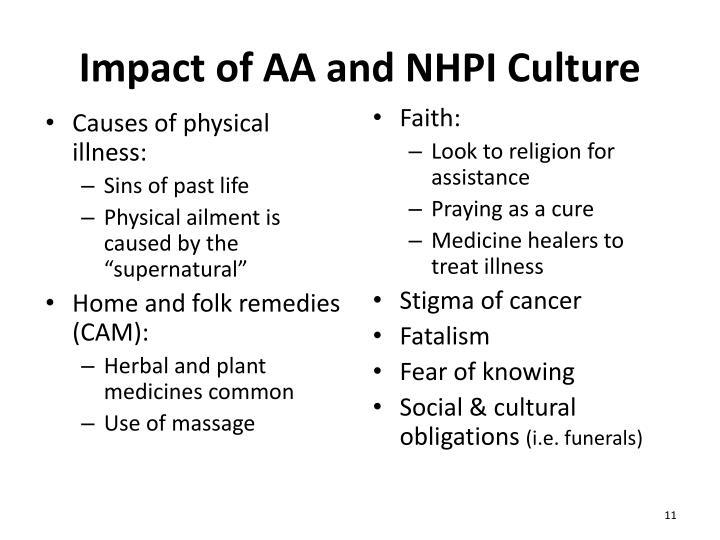 Impact of AA and NHPI Culture