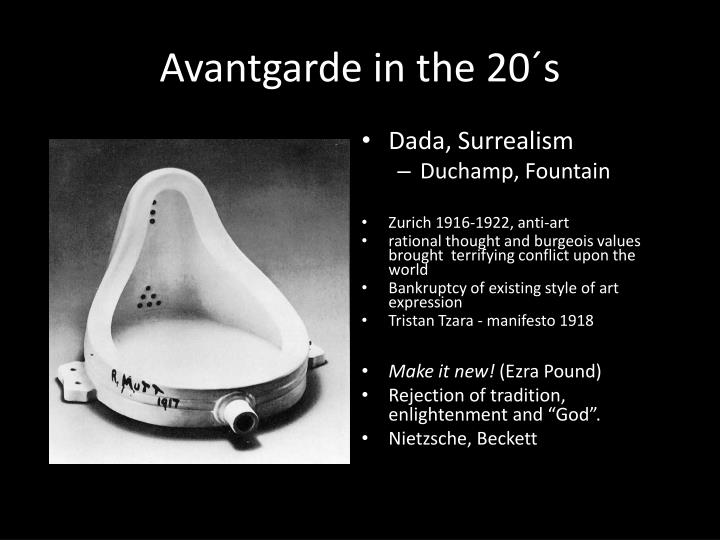 Avantgarde in the 20´s