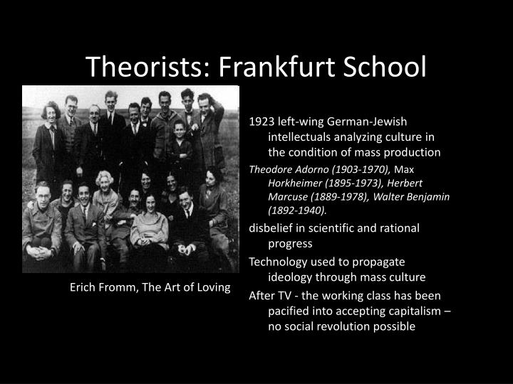 Theorists: Frankfurt School