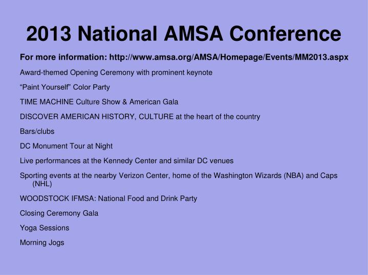 2013 National AMSA Conference