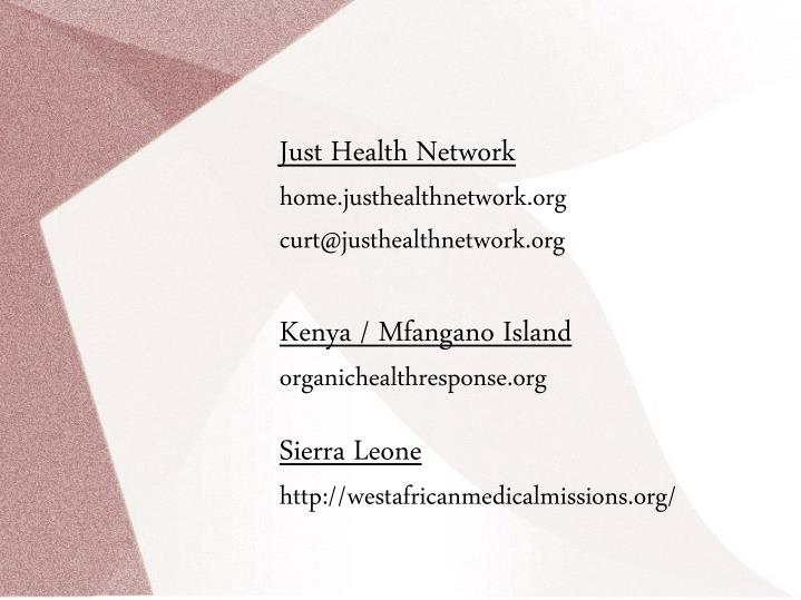 Just Health Network
