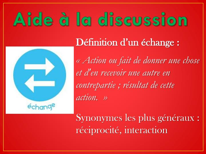 Aide à la discussion