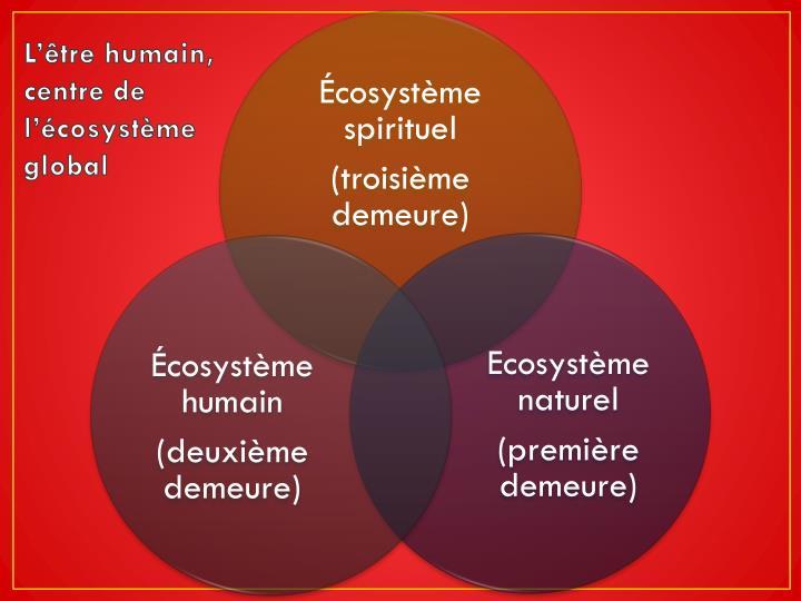 L'être humain, centre de l'écosystème global