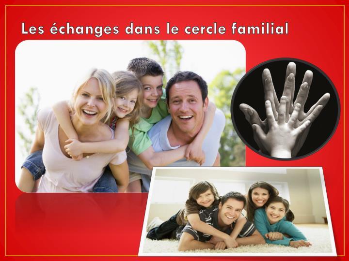 Les échanges dans le cercle familial