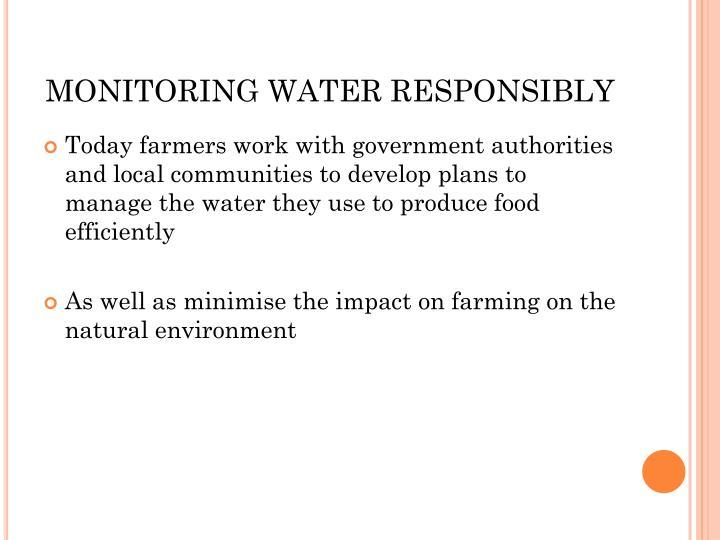 MONITORING WATER RESPONSIBLY
