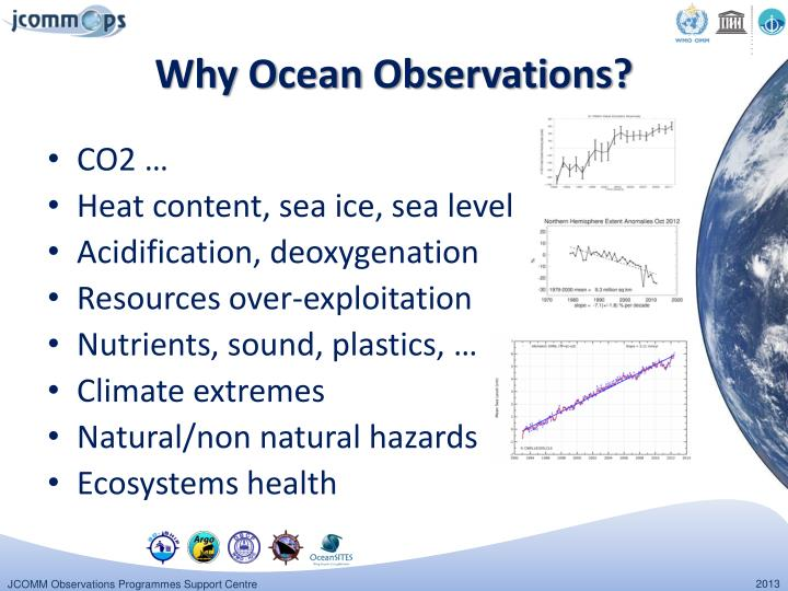Why o cean observations