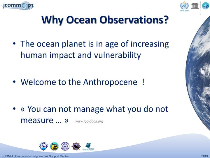 Why ocean observations